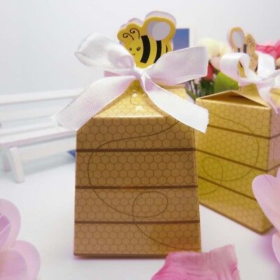 50x Little Bee Gift Bags Candy Boxes Baby Show Birthday Party Wedding Favor