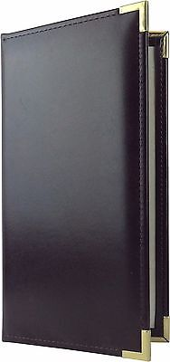 """25 Two Panel, Two View Menu Covers - 11"""" x 5.5"""" in Burgundy (VGT-230BG-P)"""