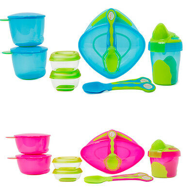 Vital Baby 8 piece Start Weaning Kit - Blue or Pink