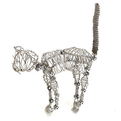 New Stainless Steel Wire Whiskers the Doodles Cat Movable Shapeable Sculpture