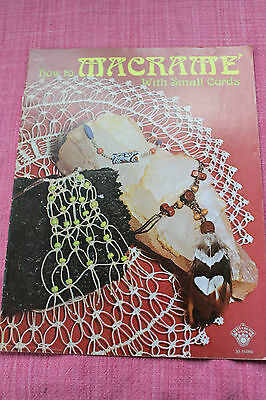 How to Macrame with Small Cords 1975 Vintage Designs