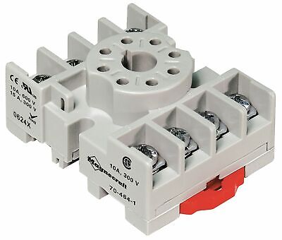 MAGNECRAFT 70-464-1 Relay Socket 8 Pin Octal 10A Din Rail/ Panel Mount