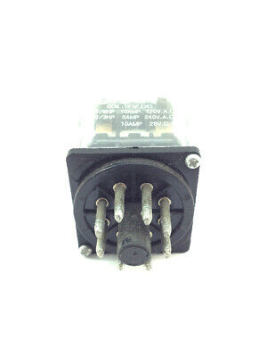 12VDC 10 Amp Relay Double Pole Double Throw DPDT, 8 Pin Octal