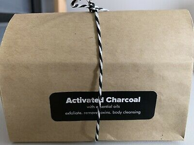 3 X ACTIVATED CHARCOAL SOAP 100g EACH SOAK UP TOXINS LIKE A SPONGE! WITH GIFT