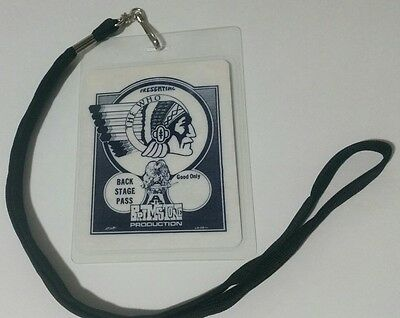 THE WHO 1970's BackStage Pass 2-sided!  Signatures + Lanyard  LOOK!