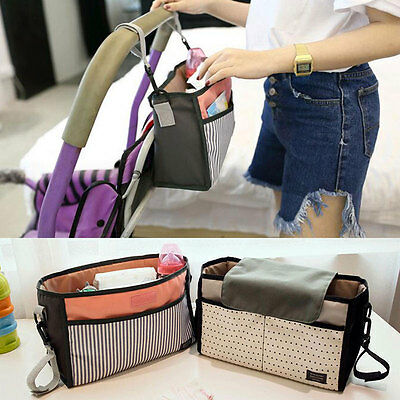 Travel Baby Pram Storage Bag Diaper Stroller Organizer Pushchair Bottle Basket