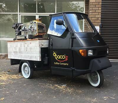 Brand New Piagio Ape Coffee Van Registered 12 Months Rego