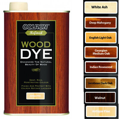 Colron 250ml Refined Lacquer Wood Dye in Various Penetrating Colours Choice of 8