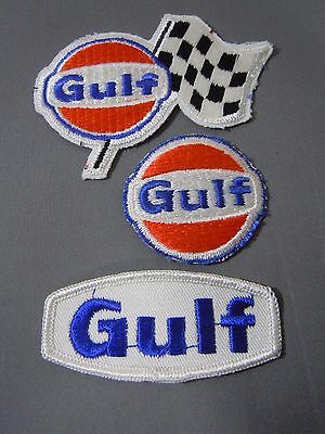 GULF Patch Lot/3 Embroidered Sew On Uniform-Jacket Patch NOS