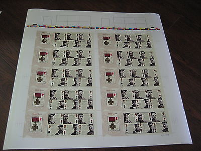 Press Sheet 2006 Victoria Cross Miniature Sheet  Uncut Royal Mail Sg Ms2665 Mnh
