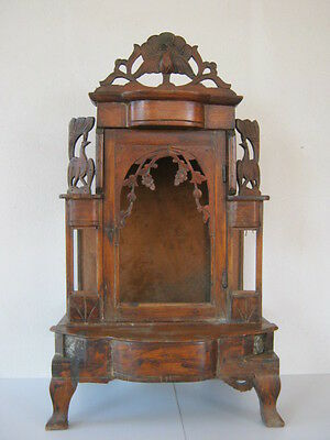 Antique Burmese Wooden Temple Cabinet