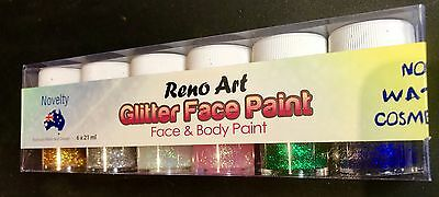 Face & Body Glitter Paint Kids Paint Artist Paint Non Toxic 6pcs x 21ml