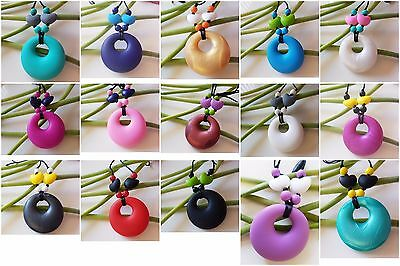 New Baby BPA Free silicone Teething Necklace jewellary Mum To Wear Baby To Chew