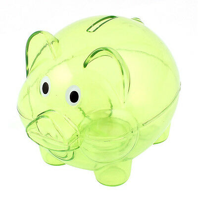 K9 Plastic Collectible Piggy Bank Coin Savings Money Cash Box Clear Green