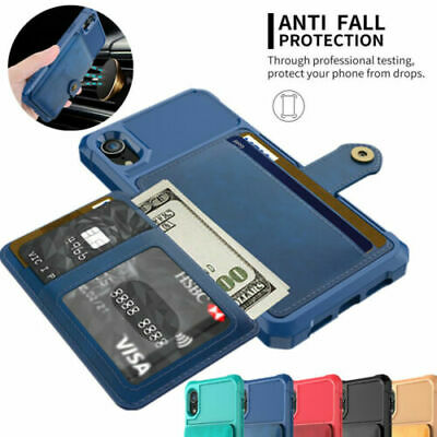 Luxury Card Slot Wallet Flip Stand Case Cover With Mirror For iPhone 7 7 Plus
