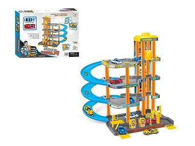 Large 4 Storey Lift Car Parking Garage child Boys Die Cast Cars Xmas Toy Playset