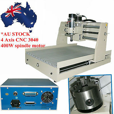 4axis CNC Router 400W Spindle Engraving Milling Carving Drill Machine Mach3 AU