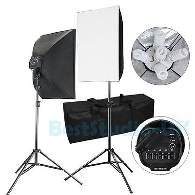Photo Studio 2250W Video Photography Softbox Stand Continuous Lighting Kit