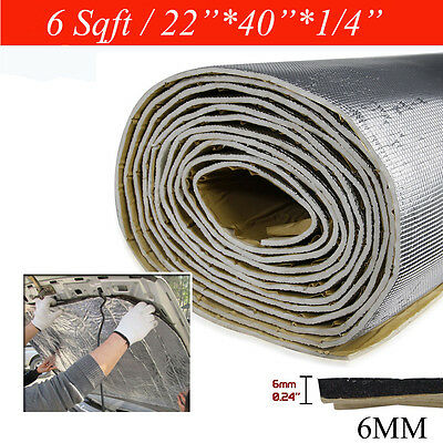 """22""""x40"""" 6sqft Car Heat Shield Noise Control Mat Prowerful Backed Self-adhesive"""
