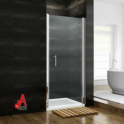 Frameless Shower Screen Enclosure Pivot Swing Door Wall to Wall Various Sizes