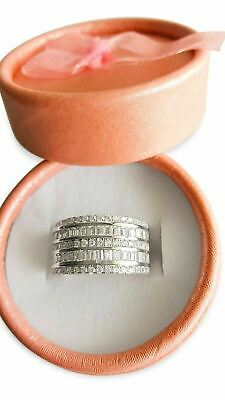 Mens Womens Extra Large 14K Stamped White Gold Filled Simulated CZBig Band Ring