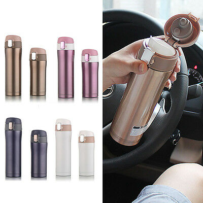 350ml 550ml Travel Mug Insulate Cup Tea Coffee Water Cup Bottle Stainless Steel