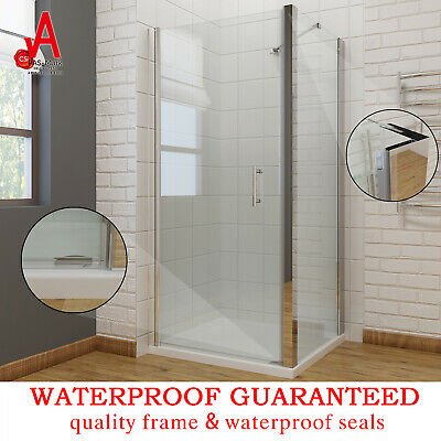 Frameless Shower Screen Pivot Door with Glass Side Panel Corner Square Cubical