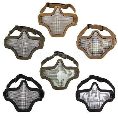 Tactical Airsoft Paintball Mesh Mask Half Face Guard CS Game For Outdoor Sports