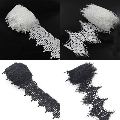 DIY Embroidery Dress Trimming 2Yds Motif Lace Trim Floral Sewing Craft Applique