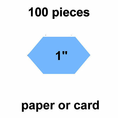 1 inch Honeycombs / Lucy Boston - 100 per pack - Paper or Card - English Paper