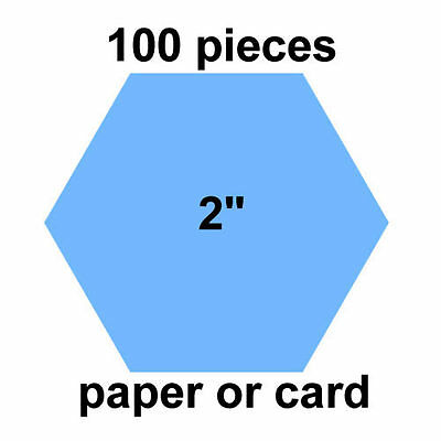 2 inch Hexagons - 100 per pack - Paper or Card - English Paper Piecing
