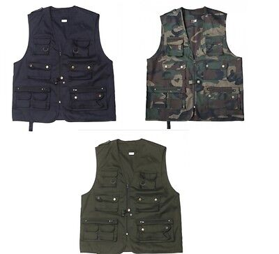 GILET SAFARI KORPS Disponibile nei colori: Verde, Woodland e Blu.