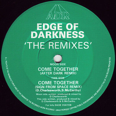 "Edge Of Darkness ‎– Come Together (The Remixes) 12"" AFTER DARK RECS NEAR MINT"