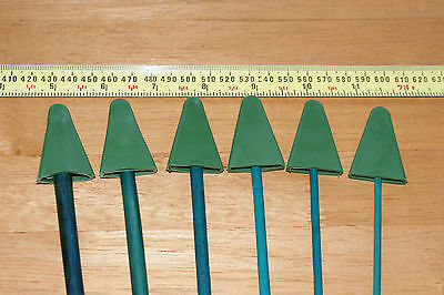 Eye Protection Caps Triangular Rubber for Stake and Flower Stick - Reusable Pk10
