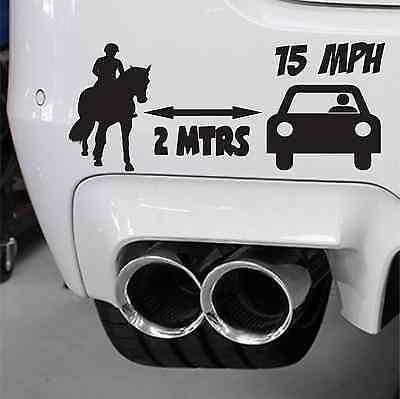 3.5 Horsebox Decal Sticker Window Bumper Car Equine Safety Pass Wide & Slow