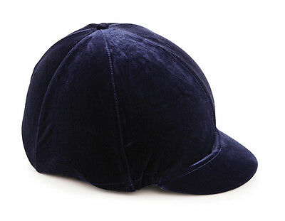 NEW Shires Velveteen Velvet Look Riding Hat Silk Cover For Jockey Skull Caps