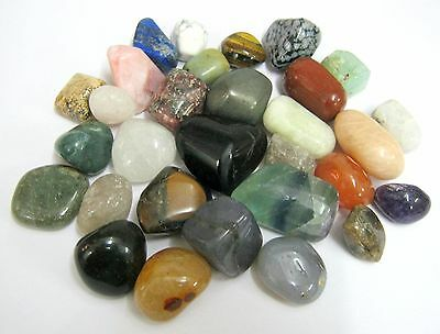 Thirty Tumble Stones Home Office Gift Crystal Healing Reiki Feng Shui Energy