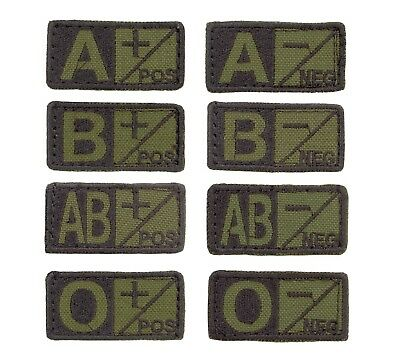 Army Khaki Camouflage Blood Group Type Hook Loop Patch Medic Tan Clothes Badge