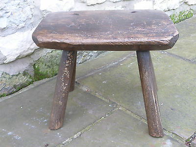 Victorian/ Georgian Rustic Topped Oak Cobblers Stool. From Malton, North Yorks