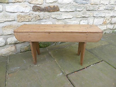 Vintage small pine bench, stripped and polished