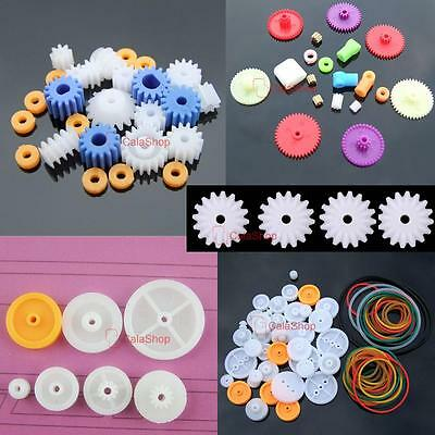 Plastic Gears Kits Pulley Belt Shaft Robot Motor bevel Set Worm Crown DIY