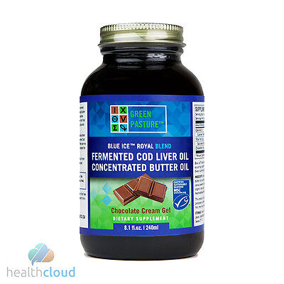 Green Pasture Blue Ice Royal Butter Oil / Cod Liver Oil Blend CHOCOLATE (240ml)