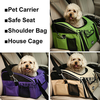 Pet Carrier Travel Bag with Storage Compartments and Handles for Cat Dog Rabbit