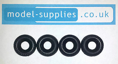 Dinky 20mm Reproduction Black Herringbone Tyres Early Dinky Supertoys