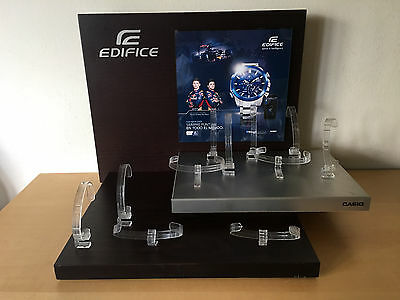 Used in shop - Display Expositor Watches CASIO EDIFICE - With11 watches Supports