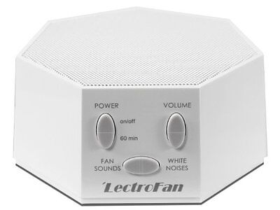 LECTROFAN White Noise Machine Fan Sound Generator with UK/US/EU Plugs - WHITE