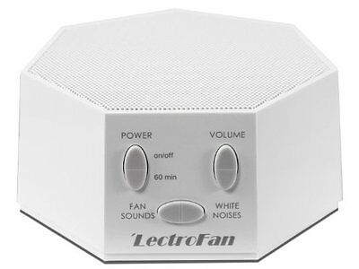 LectroFan - Fan Sound and White Noise Machine - White (with UK/US/EU Plug)