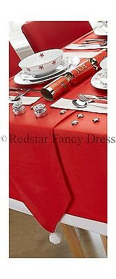 Red Christmas Table Runner Decoration Santa Home Dinner Father Christmas