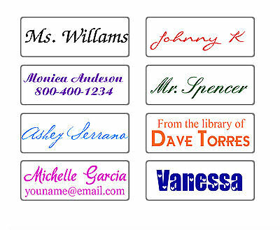 custom name rubber stamp self inking school teacher personalized signature gift