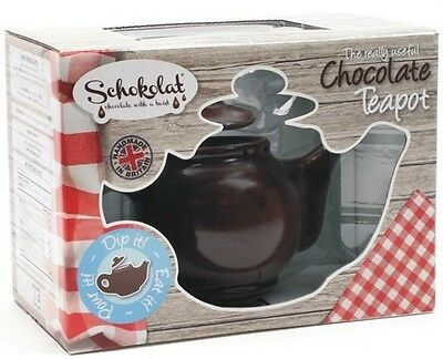 "SCHOKOLAT - ""The Really Useful CHOCOLATE TEAPOT"" Chocoholic Father's Day Gift"
